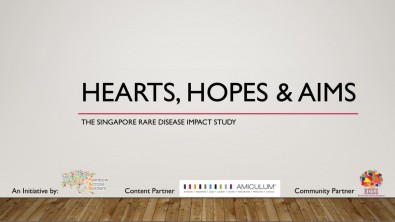 Hearts, Hopes and Aims: The Singapore Rare Disease Impact Study